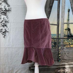 Garnet Hill Pencil Skirt with Peplum Hem Size 10